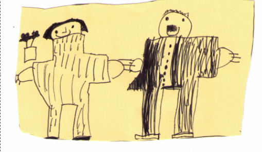 Mac's Drawing of Our Wedding